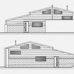 Barn Conversion - Horsham - Elevation and Floorplan - Crop