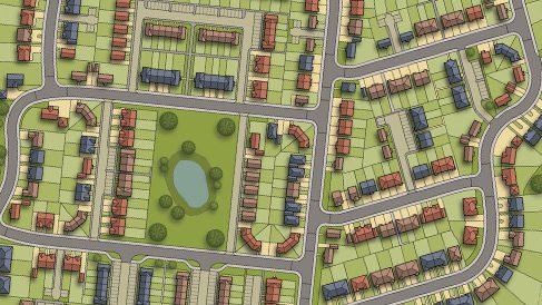 Site Plan – 376 New Homes - Horsham